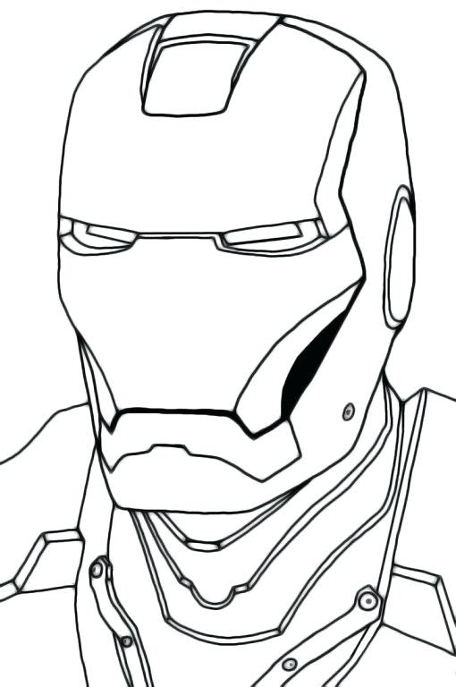 Helmet Easy Helmet Iron Man Face Drawing