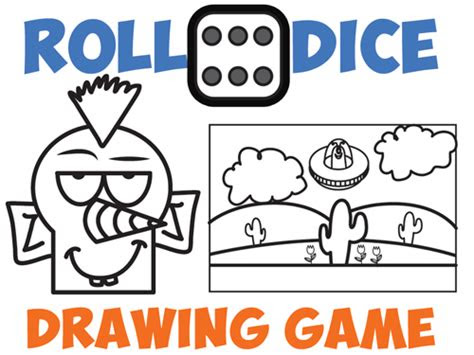 drawing games  kids roll  dice drawing game