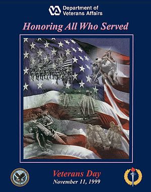 English: Veterans Day poster for 1999.