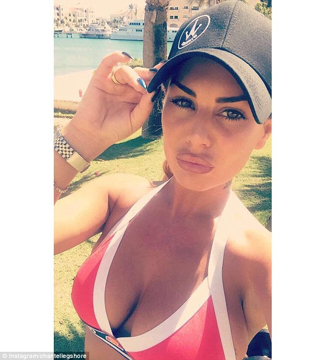 Me time:Chantelle seemed to be enjoying a solo day at the beach, having jetted on the break with her friend and former 'girlfriend' Jemma Lucy