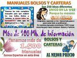 CURSO CONFECCION BOLSOS CARTERAS TELA PATRONES DISEÑOS MOLDES