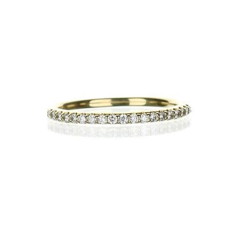14 Karat Yellow Gold Ladies Stackable Diamond Wedding Band