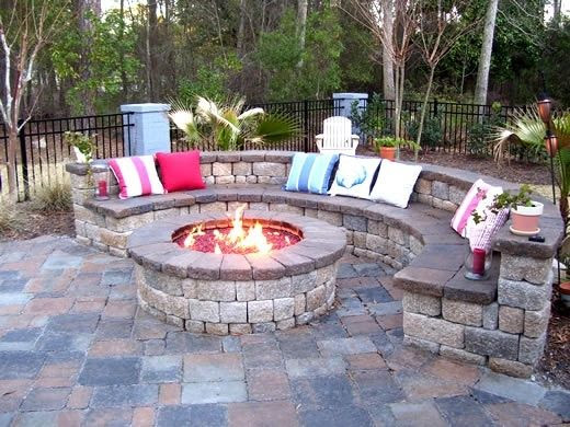 Ideas for a fire pit in the backyard