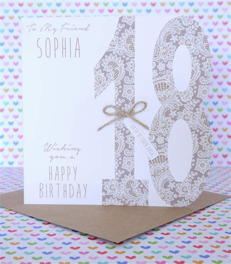 Beautiful Personalised Handmade Birthday Card 18th,21st