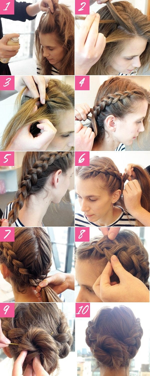 2014 Holiday Hairstyles  Cute Braided Updos  for Long  Hair