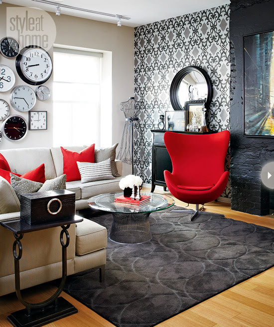 Style At Home Small space Bold and whimsical loft 1