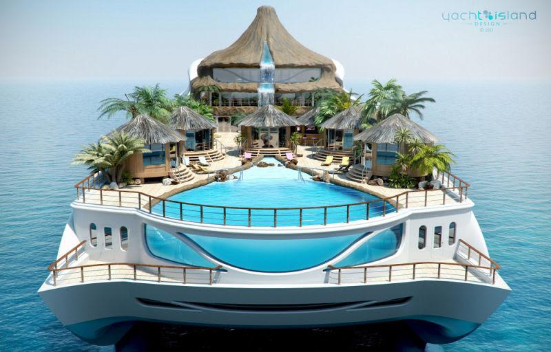Um iate que é um paraíso tropical - Quero um!