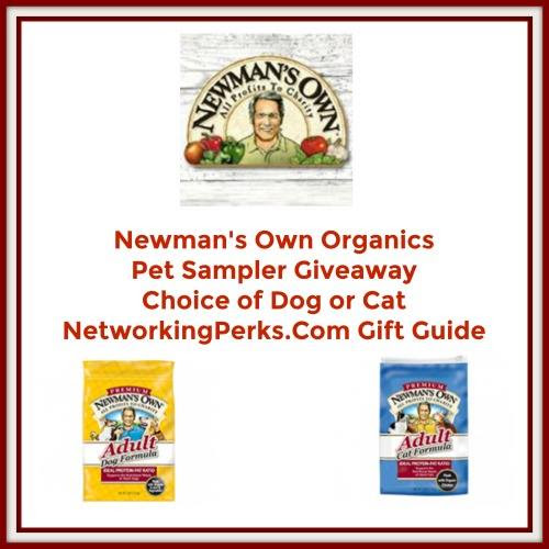 Enter the Newman's Own Organics Pet Sampler Giveaway. Ends 11/13