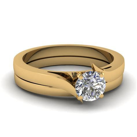 Marquise Shaped Diamond Serenity Solitaire Wedding Set In