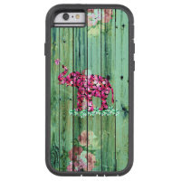 Flower Elephant Pink Sakura Green Striped Wood Tough Xtreme iPhone 6 Case