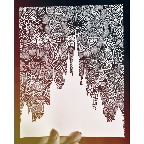I can kill you with a pencil :): Blynn Zentangles