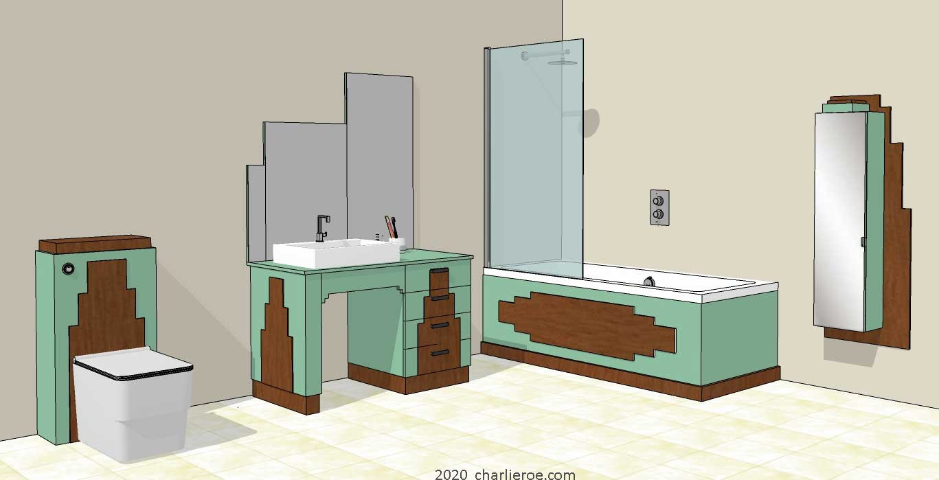 New Art Deco Bathrooms Vanity Units Wall Units Fitted Bathroom Interiors Furniture