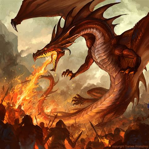 fire breathing dragon  sandara  deviantart