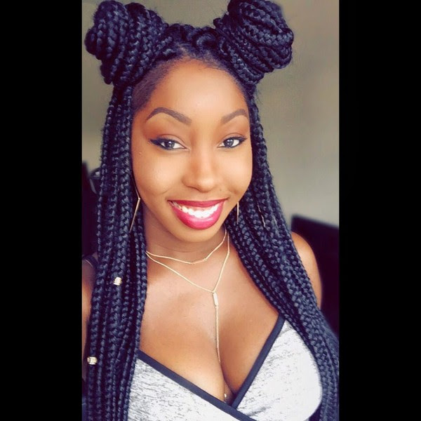Box Braids Hairstyles Bun