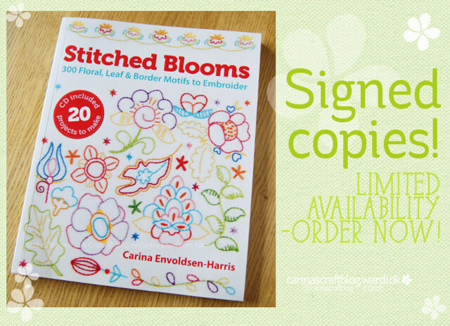 Signed copies - Stitched Blooms