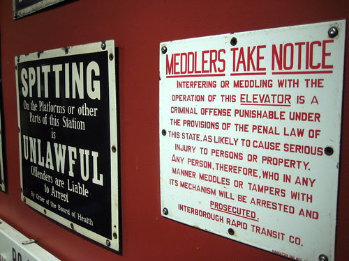 Spitting and Meddling is Unlawful