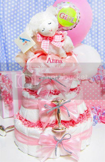 Musical Prayer Lamb Diaper Cake