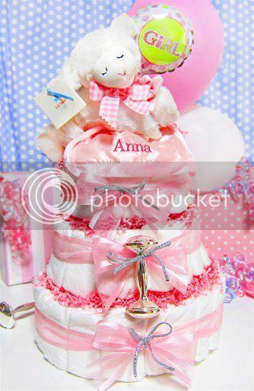 Musical Prayer Lamb Diaper Cake