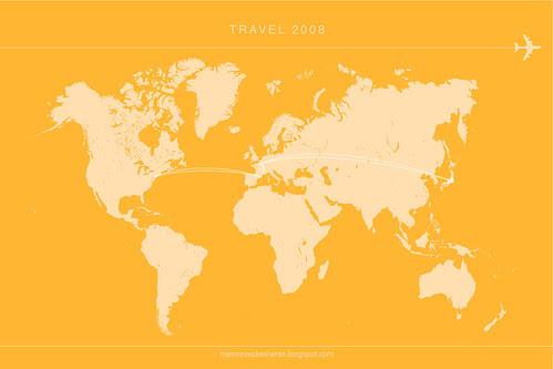 travelmap 2008