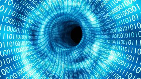 flight  binary tunnel internet stock footage video