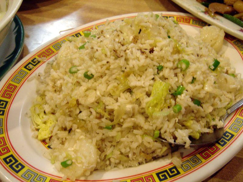 Scallops, egg white & scallion fried rice