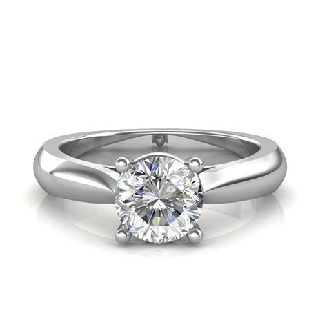 0.30 carat 18K White Gold   Classic Engagement Ring