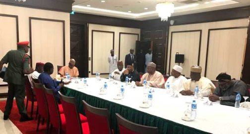 President Buhari In Emergency Meeting With 7 Governors (Photos)