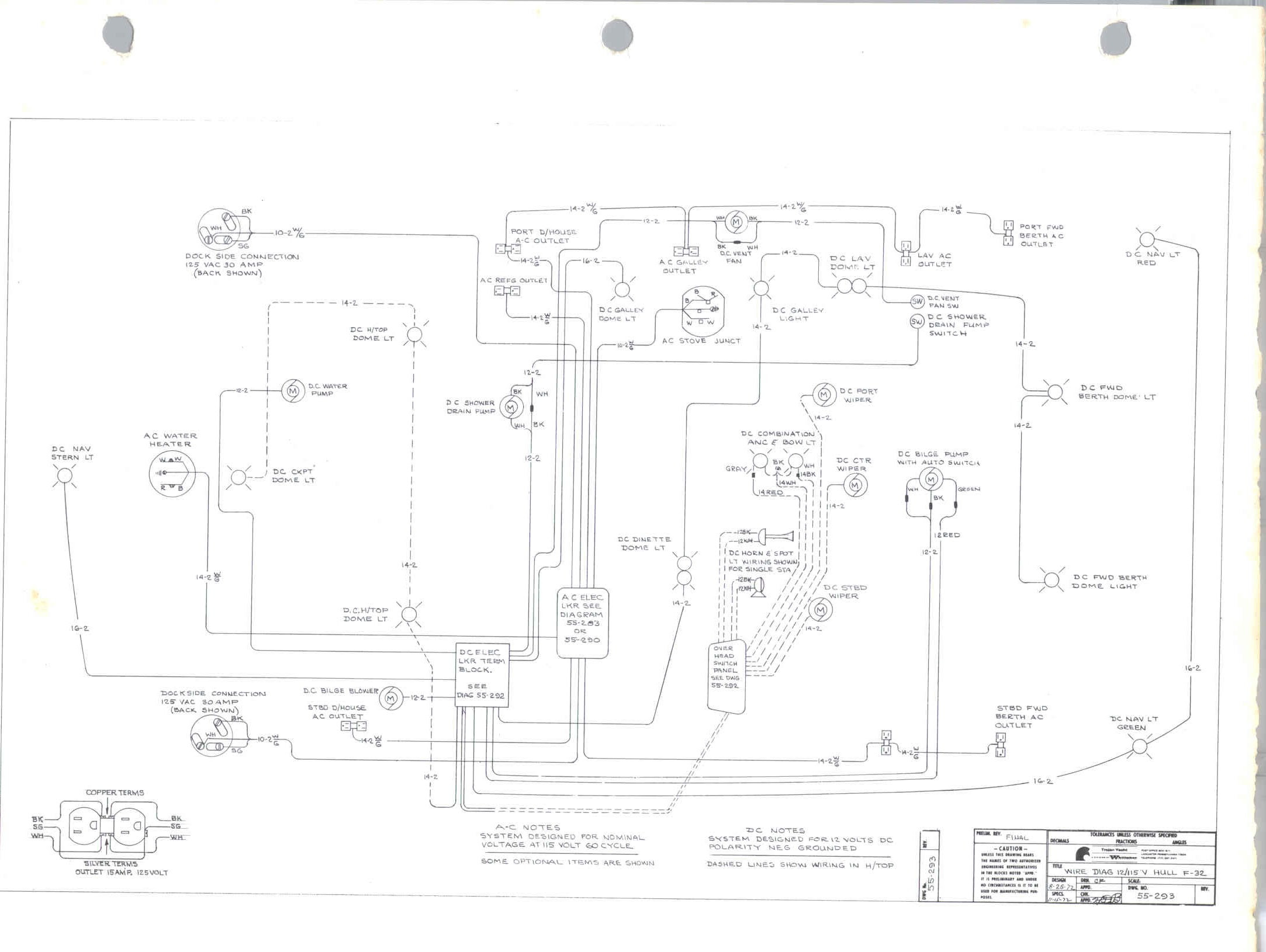 Original F 32 Schematics And Wiring Diagrams Trojan Boat Forum