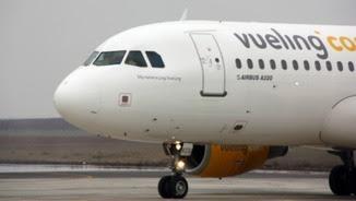 Un dels avions de Vueling