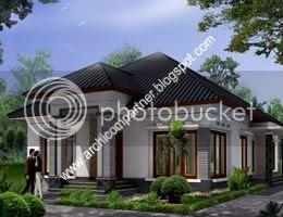 desain rumah satu lantai,contoh rumah