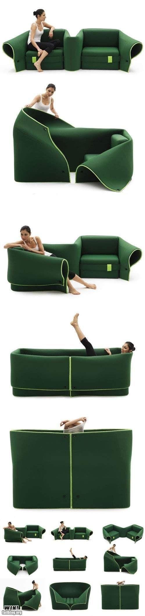 El sofá que se adapta a las necesidades de cada momento!!