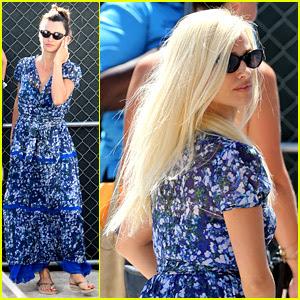 Penelope Cruz Wears Blonde Wig on 'Versace' Set