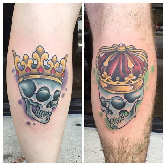 Unify Tattoo Company Tattoos Skull King And Queen Skulls