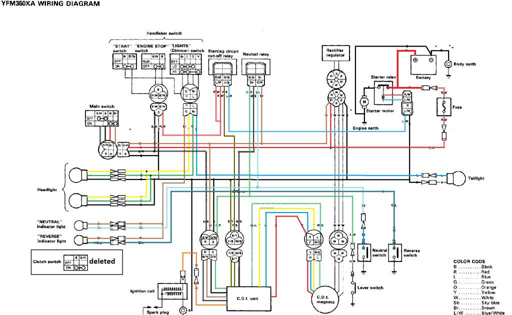 21+ 01 Yamaha Bear Tracker 250 Wiring Diagram