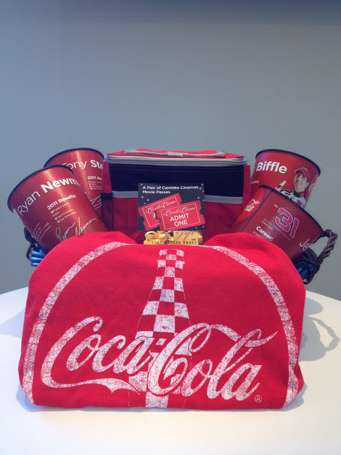 Coca Cola Carmike Nascar Gift Basket We Are Movie Geeks