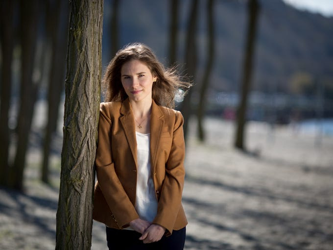 Amanda Knox was convicted in 2009 for the murder of her housemate, Meredith Kercher, in Perugia, Umbria, Italy, where they were both students. She served four years of a 26-year sentence before the murder conviction was overturned in October 2011. Now she is working to move on with her life.