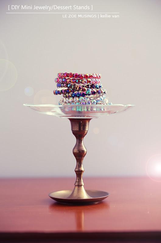 DIY Mini Jewelry/Dessert Stands | le zoe musings