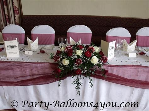 Burgundy Wedding Reception Decorations