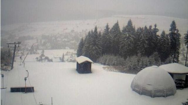 Carlsfeld in mountains  Ore