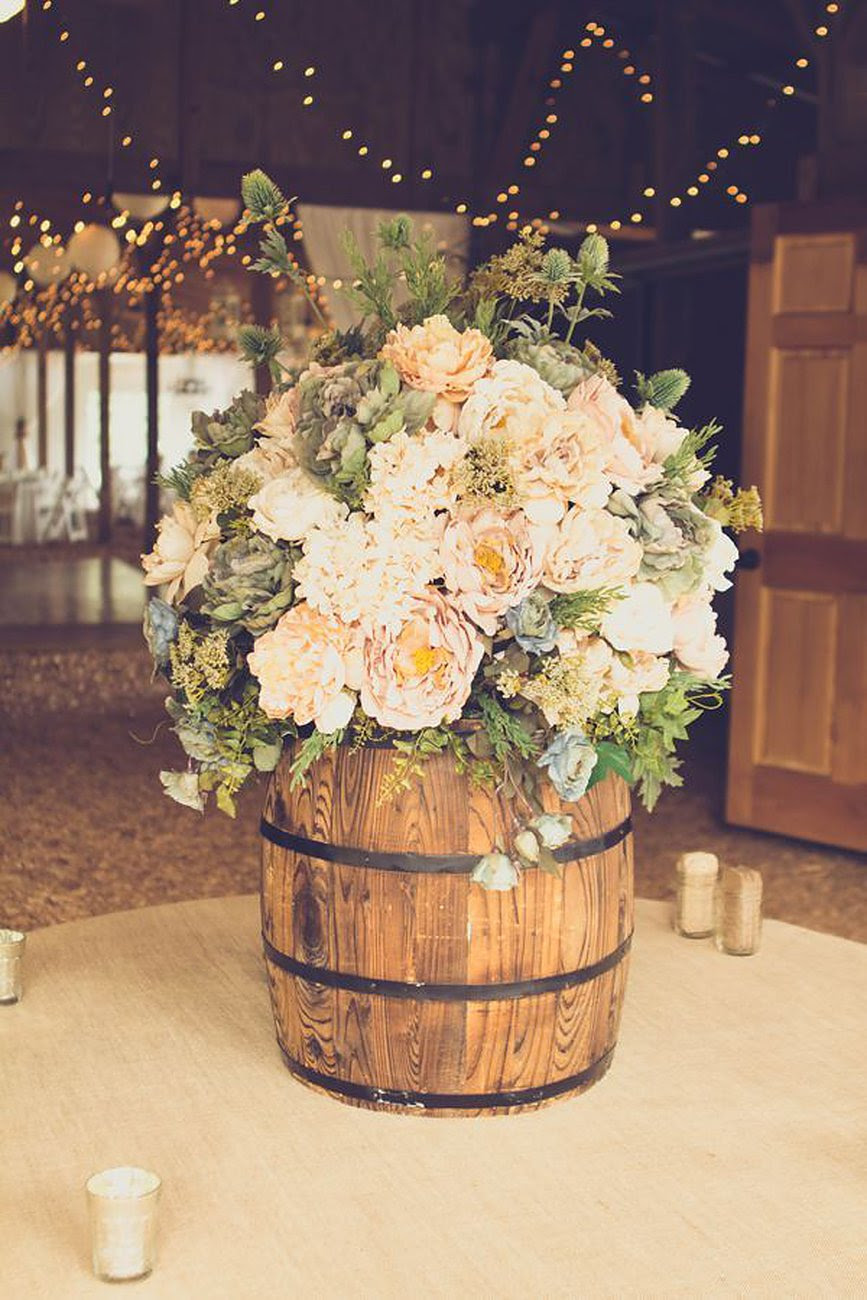 Direct gardening supplies: Rustic style wedding decorations