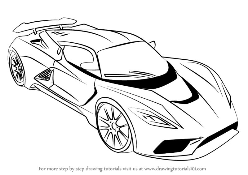 Sport Car Drawing At Getdrawingscom Free For Personal Use Sport