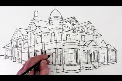 Mansion Dream House Sketch