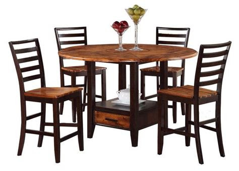 dining room table acacia honey counter height table