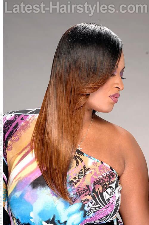 Ombre Color de pelo con transición suave