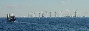 Offshore wind turbines near Copenhagen.