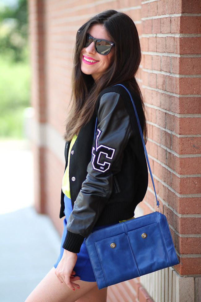 American College Varsity Jacket, Chuck Taylor Converse, Fashion Outfit