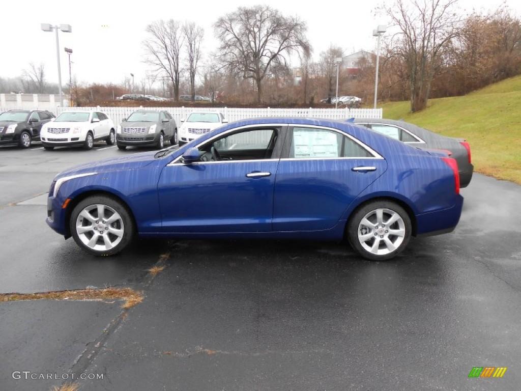 2013 Opulent Blue Metallic Cadillac ATS 2.5L #74879320 ...