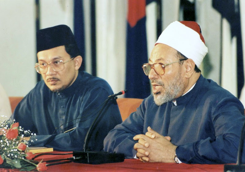 The pilot's good friend, Anwar Ibrahim, together with Muslim Brotherhood radical Islamofascist and spiritual leader Youssef al-Qaradawi