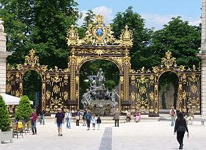 Entrée Parc de la Pépinière - Place Stanislas