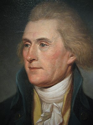 English: A Portrait of Thomas Jefferson as Sec...